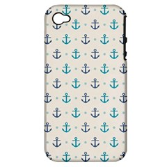 Sailor Anchor Apple Iphone 4/4s Hardshell Case (pc+silicone) by Brittlevirginclothing