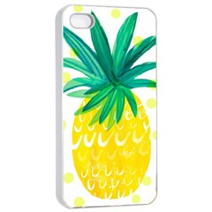 Cute Pineapple Apple Iphone 4/4s Seamless Case (white)