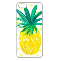 Cute Pineapple Apple Seamless Iphone 5 Case (clear)