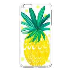 Cute Pineapple Apple Iphone 6 Plus/6s Plus Enamel White Case by Brittlevirginclothing
