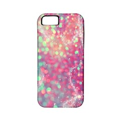 Rainbow Sparles Apple Iphone 5 Classic Hardshell Case (pc+silicone) by Brittlevirginclothing