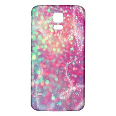 Rainbow Sparles Samsung Galaxy S5 Back Case (white)