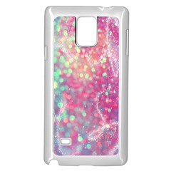 Rainbow Sparles Samsung Galaxy Note 4 Case (white)