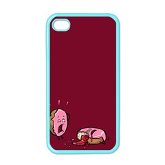 Funny Donut Apple Iphone 4 Case (color) by Brittlevirginclothing