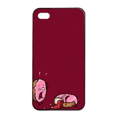 Funny Donut Apple Iphone 4/4s Seamless Case (black) by Brittlevirginclothing