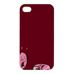 Funny Donut Apple Iphone 4/4s Hardshell Case by Brittlevirginclothing
