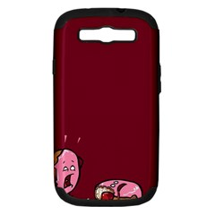 Funny Donut Samsung Galaxy S Iii Hardshell Case (pc+silicone) by Brittlevirginclothing