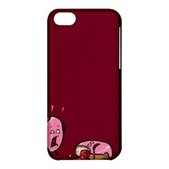 Funny Donut Apple Iphone 5c Hardshell Case by Brittlevirginclothing