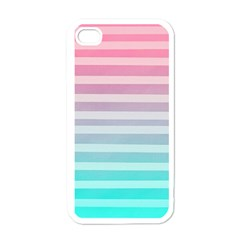 Colorful Vertical Lines Apple Iphone 4 Case (white) by Brittlevirginclothing