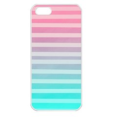 Colorful Vertical Lines Apple Iphone 5 Seamless Case (white)