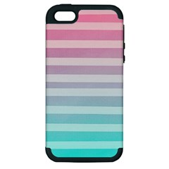 Colorful Vertical Lines Apple Iphone 5 Hardshell Case (pc+silicone) by Brittlevirginclothing