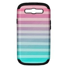 Colorful Vertical Lines Samsung Galaxy S Iii Hardshell Case (pc+silicone)