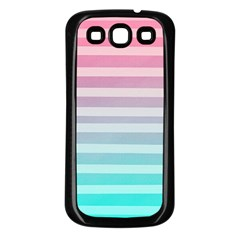 Colorful Vertical Lines Samsung Galaxy S3 Back Case (black) by Brittlevirginclothing