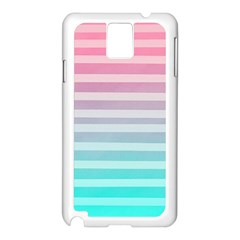 Colorful Vertical Lines Samsung Galaxy Note 3 N9005 Case (white)