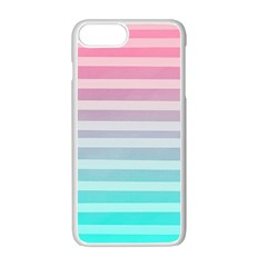 Colorful Vertical Lines Apple Iphone 7 Plus White Seamless Case by Brittlevirginclothing