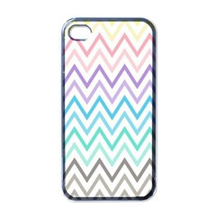 Colorful Wavy Lines Apple Iphone 4 Case (black)