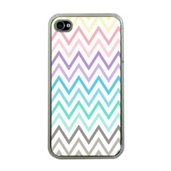 Colorful Wavy Lines Apple Iphone 4 Case (clear) by Brittlevirginclothing