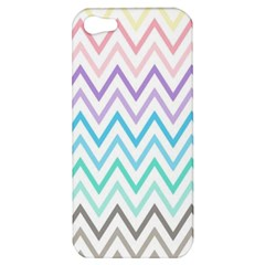 Colorful Wavy Lines Apple Iphone 5 Hardshell Case by Brittlevirginclothing