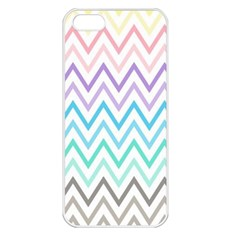 Colorful Wavy Lines Apple Iphone 5 Seamless Case (white)