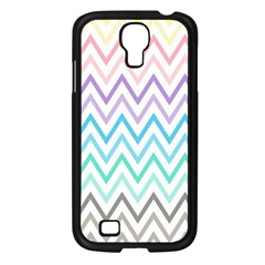 Colorful Wavy Lines Samsung Galaxy S4 I9500/ I9505 Case (black)