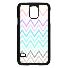 Colorful Wavy Lines Samsung Galaxy S5 Case (black) by Brittlevirginclothing