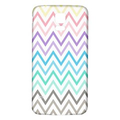 Colorful Wavy Lines Samsung Galaxy S5 Back Case (white) by Brittlevirginclothing