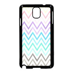 Colorful Wavy Lines Samsung Galaxy Note 3 Neo Hardshell Case (black) by Brittlevirginclothing