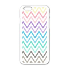 Colorful Wavy Lines Apple Iphone 6/6s White Enamel Case by Brittlevirginclothing