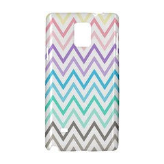 Colorful Wavy Lines Samsung Galaxy Note 4 Hardshell Case by Brittlevirginclothing
