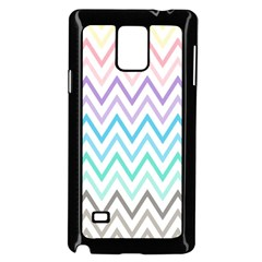 Colorful Wavy Lines Samsung Galaxy Note 4 Case (black) by Brittlevirginclothing
