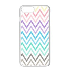 Colorful Wavy Lines Apple Iphone 7 Plus White Seamless Case by Brittlevirginclothing
