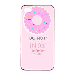 Yummy Donut Apple Iphone 4/4s Seamless Case (black) by Brittlevirginclothing