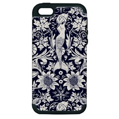 Deep Blue Apple Iphone 5 Hardshell Case (pc+silicone) by Brittlevirginclothing