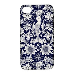 Deep Blue Apple Iphone 4/4s Hardshell Case With Stand by Brittlevirginclothing