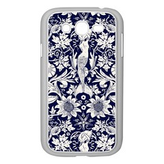 Deep Blue Samsung Galaxy Grand Duos I9082 Case (white) by Brittlevirginclothing