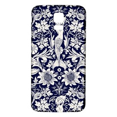 Deep Blue Samsung Galaxy S5 Back Case (white) by Brittlevirginclothing