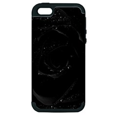 Black Rose Apple Iphone 5 Hardshell Case (pc+silicone)