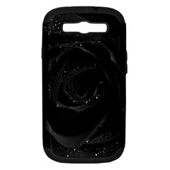 Black Rose Samsung Galaxy S Iii Hardshell Case (pc+silicone)