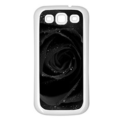 Black Rose Samsung Galaxy S3 Back Case (white)