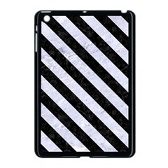 Stripes3 Black Marble & White Marble (r) Apple Ipad Mini Case (black) by trendistuff