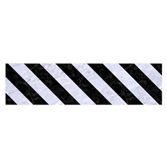 Stripes3 Black Marble & White Marble (r) Satin Scarf (oblong) by trendistuff