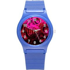 Abstract Bubble Background Round Plastic Sport Watch (s) by Amaryn4rt
