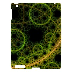 Abstract Circles Yellow Black Apple Ipad 3/4 Hardshell Case by Amaryn4rt