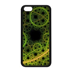 Abstract Circles Yellow Black Apple Iphone 5c Seamless Case (black) by Amaryn4rt