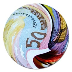 Abstract Currency Background Magnet 5  (round) by Amaryn4rt