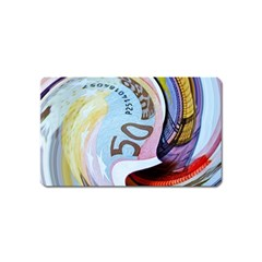 Abstract Currency Background Magnet (name Card) by Amaryn4rt