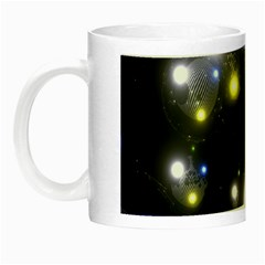 Abstract Dark Spheres Psy Trance Night Luminous Mugs by Amaryn4rt