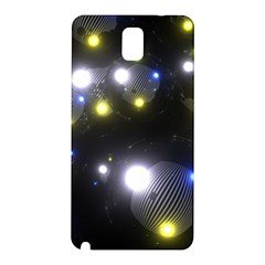 Abstract Dark Spheres Psy Trance Samsung Galaxy Note 3 N9005 Hardshell Back Case by Amaryn4rt