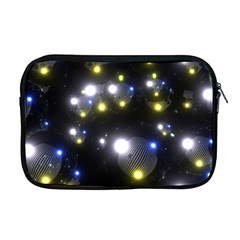Abstract Dark Spheres Psy Trance Apple Macbook Pro 17  Zipper Case by Amaryn4rt