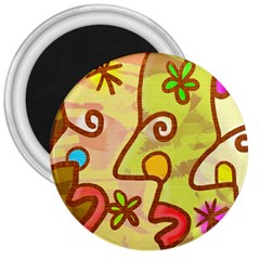 Abstract Faces Abstract Spiral 3  Magnets by Amaryn4rt